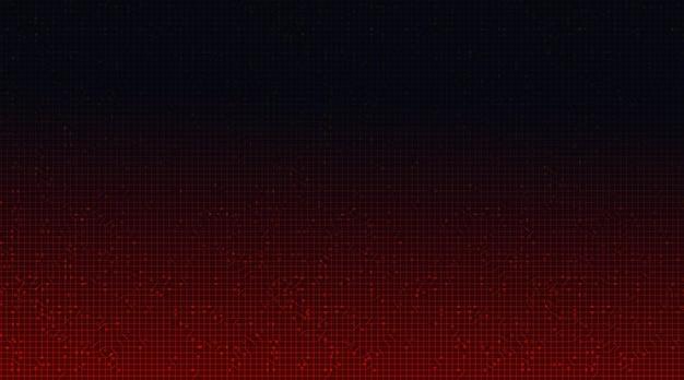 Priorità bassa di tecnologia del microchip del circuito rosso.