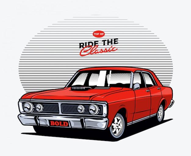 Auto classica rossa