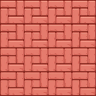 Superficie delle lastre per pavimentazione in calcestruzzo rosso. sfondi trama senza soluzione di continuità