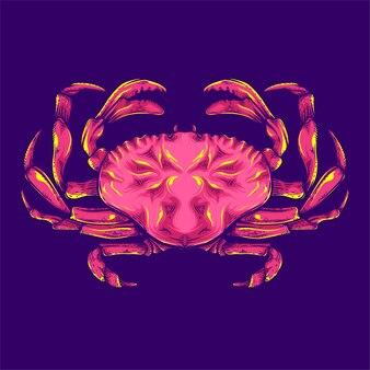 Illustrazione di granchio rosso