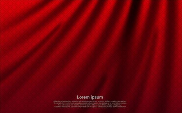 Tenda di lusso realistico sfondo rosso.