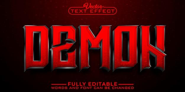 Modello di effetto di testo modificabile demone rosso