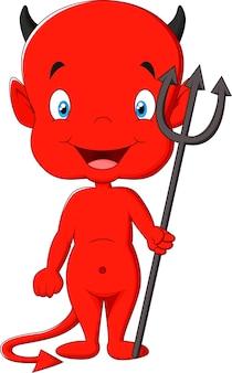Cartone animato diavolo rosso