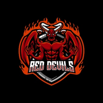 Logo esport del diavolo rosso