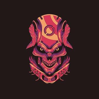 Illustrazione del diavolo rosso