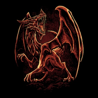 Illustrazione del drago rosso