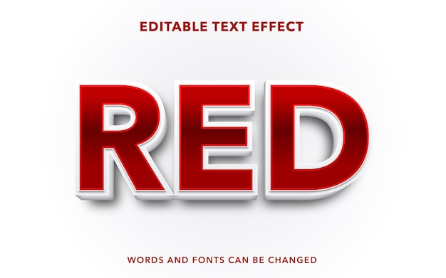 Stile di effetto testo modificabile rosso
