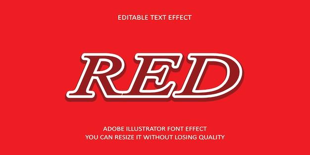 Red effetto di testo modificabile con sfondo rossastro