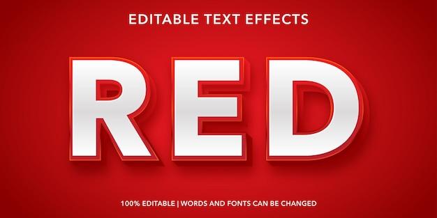 Effetto di testo modificabile rosso