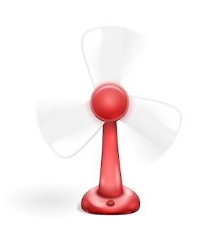 Ventilatore elettrico rosso isolato