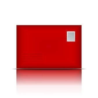 Busta rossa. illustrazione vettoriale