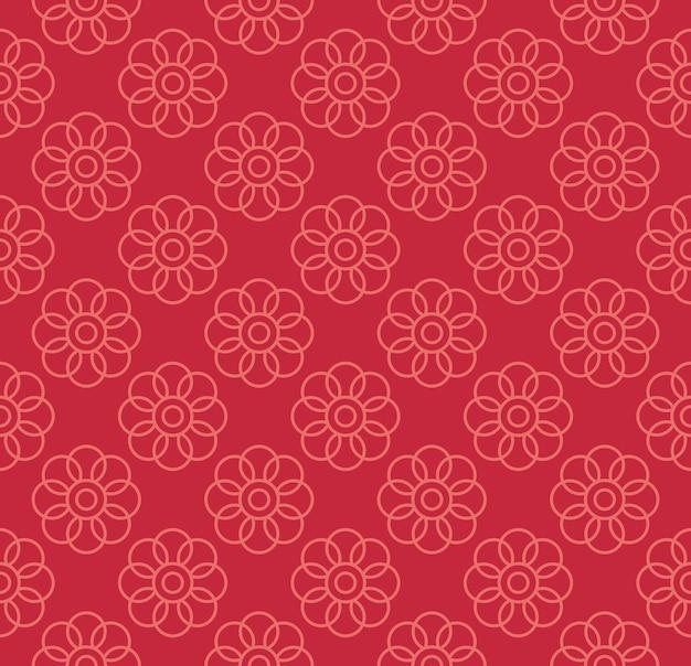 Motivo a fiori rossi