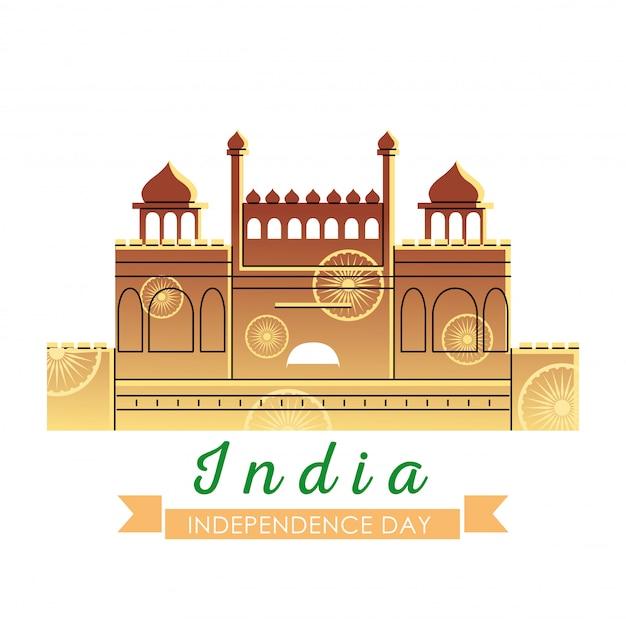 Forte rosso della festa dell'indipendenza dell'india