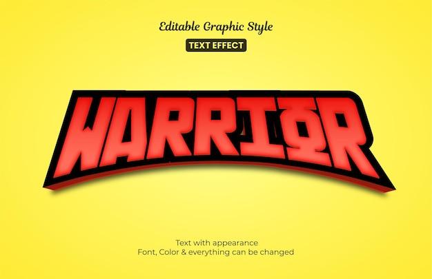 Stile e-sport da gioco rosso, effetto stile testo modificabile