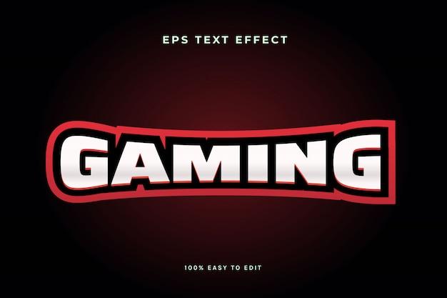 Effetto di testo con logo esport di gioco rosso