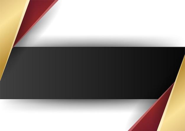 Forme geometriche astratte in oro rosso su sfondo bianco. adatto per sfondo di presentazione, banner, pagina di destinazione web, interfaccia utente, app mobile, design editoriale, volantino, banner e altre occasioni correlate
