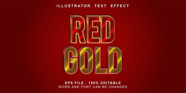 Effetto di testo modificabile in oro rosso