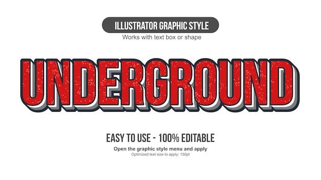 Rosso grunge 3d maiuscolo tipografia