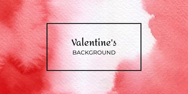 San valentino di struttura dell'acquerello disegnato a mano rosso