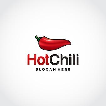 Logo red hot chili in design in stile mesh