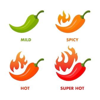 Livelli di pappers red hot chili impostati