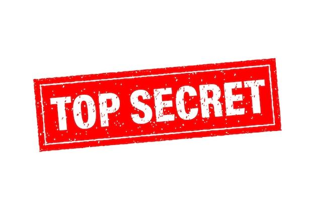 Icona rossa con concetto top secret