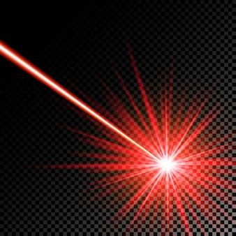 Raggio laser rosso. illustrazione.
