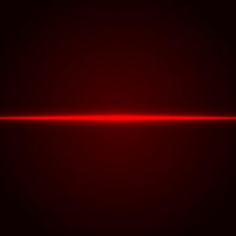 Raggio laser rosso. luce al neon. .