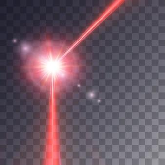 Raggio laser rosso