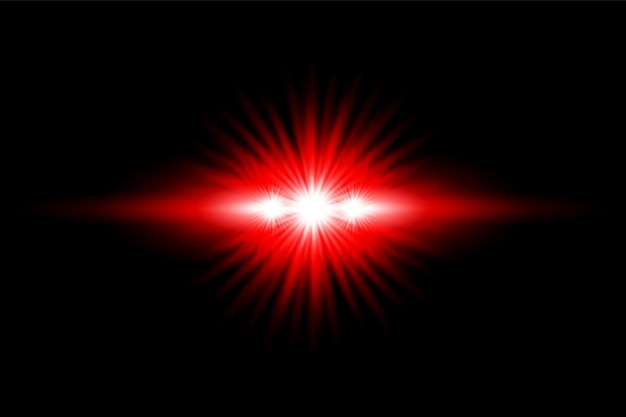 Effetto luce rossa trasparente vector custom lens flare