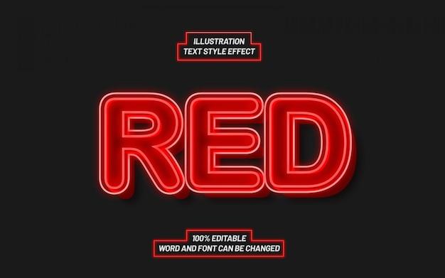 Effetto stile testo a luce rossa