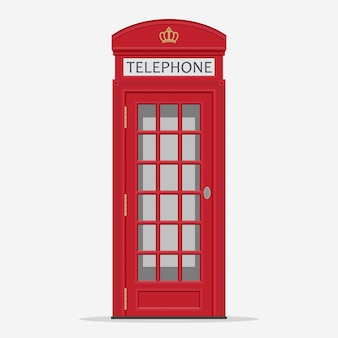 Cabina telefonica rossa di londra street