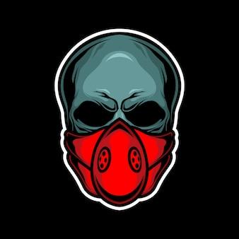 Teschio maschera rossa