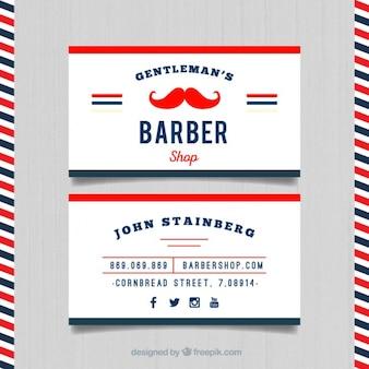 Carta di barbiere red baffi