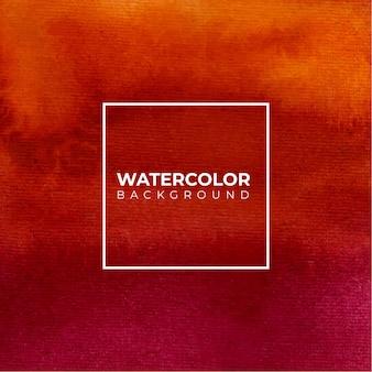 Acquerello astratto rosso arancio per sfondo texture