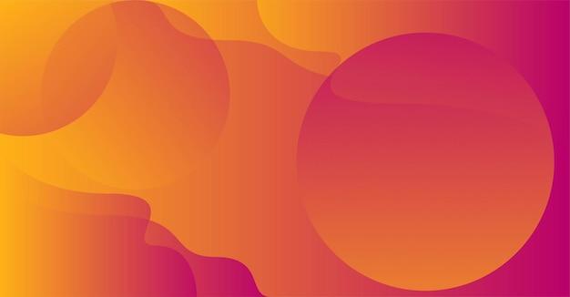 Priorità bassa moderna di colore arancione rosso con i cerchi