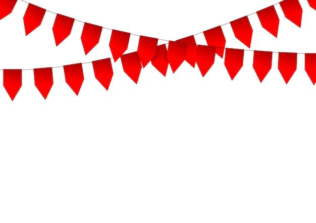 Bandiere di carta graland rosse