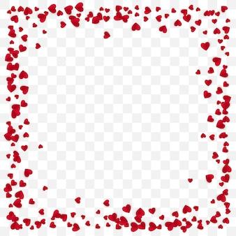 Sfondo di cornice cuore di carta rossa