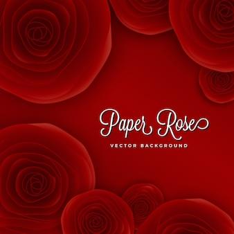 Illustrazione di sfondo rosa carta rossa