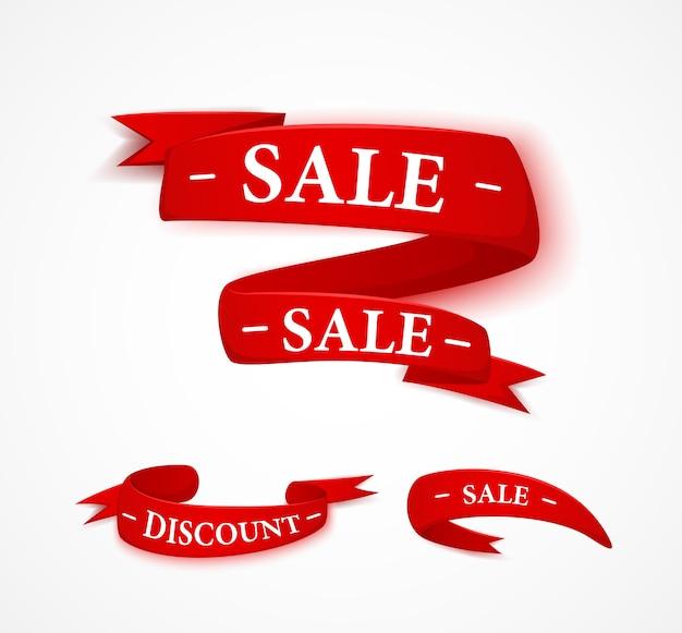 Nastro di vendita di papper rosso