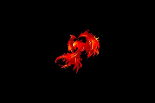 Vettore di phoenix rossa