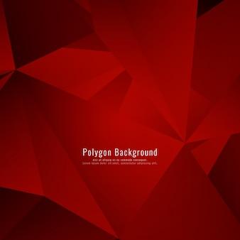 Disegno astratto rosso poligonale di sfondo