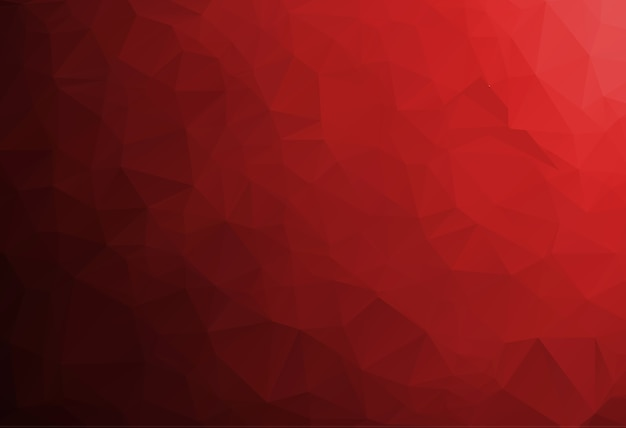 Sfondo rosso mosaico poligonale, modelli di design creativo