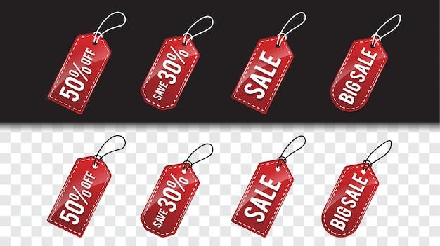 Modello di cartellino del prezzo rosso