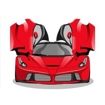 Macchina da corsa rossa
