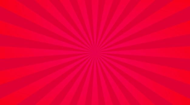 Sfondo di raggi rossi