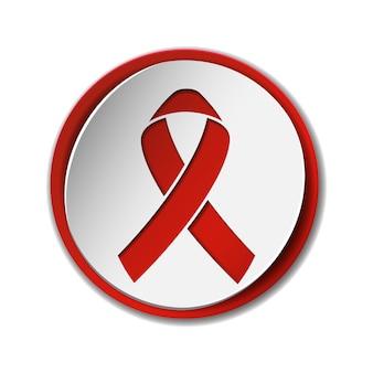 Segno di consapevolezza dell'aids del nastro rosso