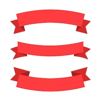 Nastro rosso, illustrazione isolato su bianco.