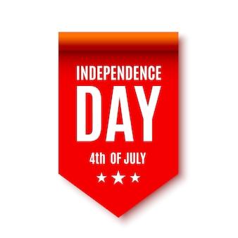 Fiocco rosso. giorno dell'indipendenza. banner. .