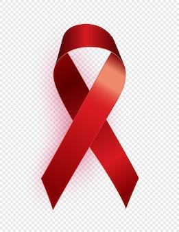Simbolo del nastro rosso. 1 dicembre concetto di giornata mondiale contro l'aids.